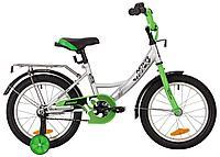 """Велосипед NOVATRACK 16"""" VECTOR серебристый, тормоз нож, крылья, багажник, защита А-тип"""