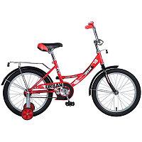 """Велосипед NOVATRACK 18"""", URBAN, красный, защита А-тип, тормоз нож., крылья и багажник хром., фото 1"""