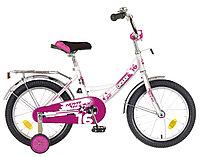"""Велосипед NOVATRACK 16"""", URBAN, белый, полная защита цепи, тормоз нож., крылья и багажник хром.,, фото 1"""
