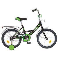 """Велосипед NOVATRACK 18"""" URBAN чёрный, защита А-тип, тормоз нож, крылья и багажник хром, фото 1"""
