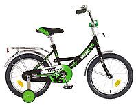 """Велосипед NOVATRACK 16"""" URBAN чёрный, полная защ.цепи, тормоз нож, крылья и багажник хром, фото 1"""