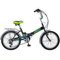 """Велосипед NOVATRACK 20"""" складной, FS30, черный, 6скор.Shimano TY-21,тормоз 2руч,сиден, багажник, фото 1"""