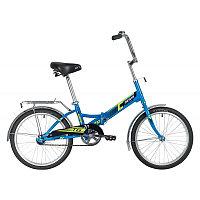 """Велосипед NOVATRACK 20"""" складной, TG20, синий, тормоз нож , двойной обод, багажник, фото 1"""