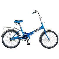 "Велосипед NOVATRACK 20"" складной, FS30, синий, 6скор.Shimano TY-21,тормоз 2руч,сиден #137228, фото 1"