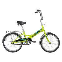 """Велосипед NOVATRACK 20"""" складной, TG20, зеленый, тормоз нож, двойной обод, багажник, фото 1"""