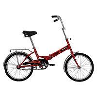 """Велосипед NOVATRACK 20"""" складной, TG20, красный, тормоз нож, AL обода, багажник, фото 1"""