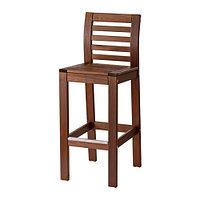 Барный стул, садовый, коричневая морилка ЭПЛАРО, ИКЕА, IKEA, фото 1