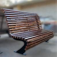 Скамейка уличная металлическая