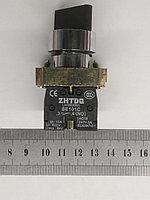 Промышленный переключатель поворотный 3 положения 1NO+1NC, фото 1