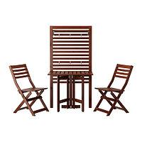 Стол+2 стула+панель ЭПЛАРО коричневая морилка, фото 1