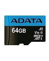 ADATA Premier microSDXC, 64Gb, UHS-I Class 10 A1 + SD adapter