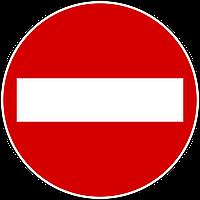Дорожный знак круглый