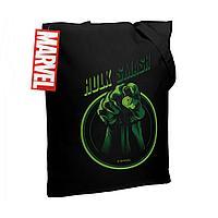 Холщовая сумка Hulk Smash, черная, фото 1