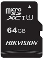 Карта памяти  HIKVISION, microSDHC, 64GB, Class10, более 300 циклов