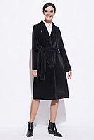 Пальто демисезонное, твид, 42-50, черное, классика