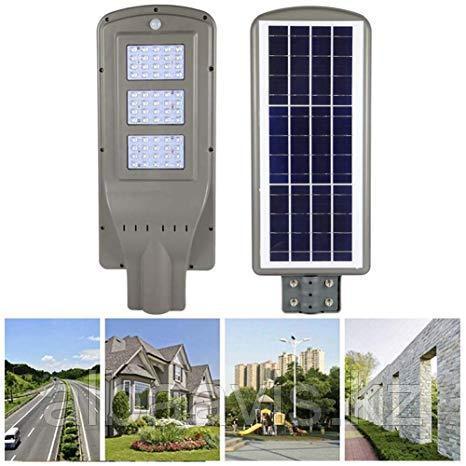 Светильник уличного освещения на солнечных батареях 90W. ску на солнце, светильник от солнечной панели