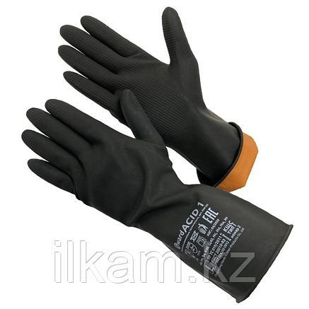 Перчатки резиновые технические, КЩС тип 1, Gward ACID 1, фото 2