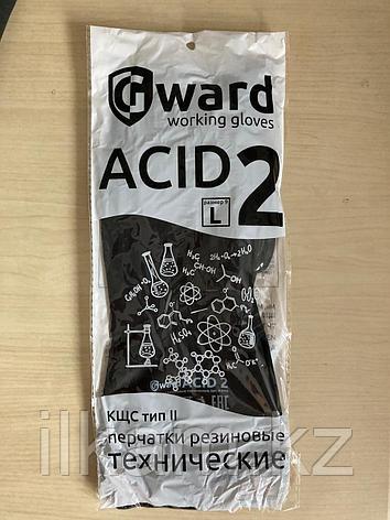 Перчатки резиновые технические, КЩС тип 2, Gward ACID 2, фото 2