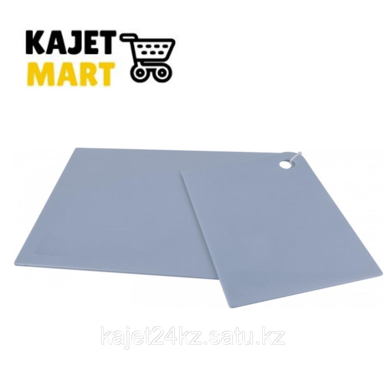 Набор досок разделочных GROSTEN прямоугольных 2 шт. (345х245х2мм; 247х173х2мм) туманно-голубой