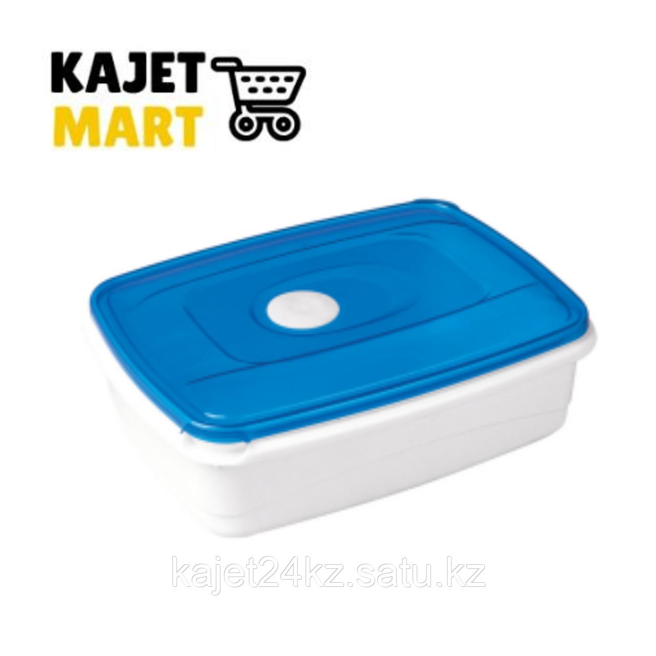 Емкость для СВЧ MICRO TOP BOX прямоугольная 1,3л голубой прозрачный