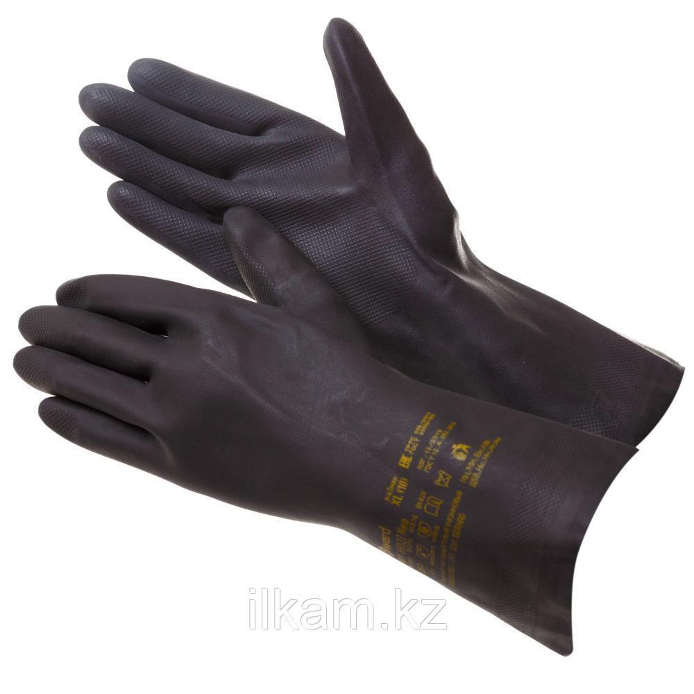 Перчатки индустриальные химстойкие, латекс+неопрен, Gward HD27