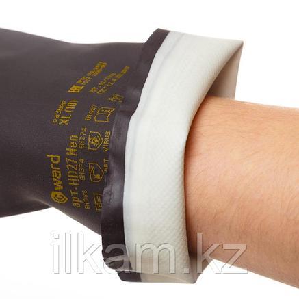 Перчатки индустриальные химстойкие, латекс+неопрен, Gward HD27, фото 2
