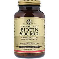 Биотин Солгар, 5000 мкг 100 капсул