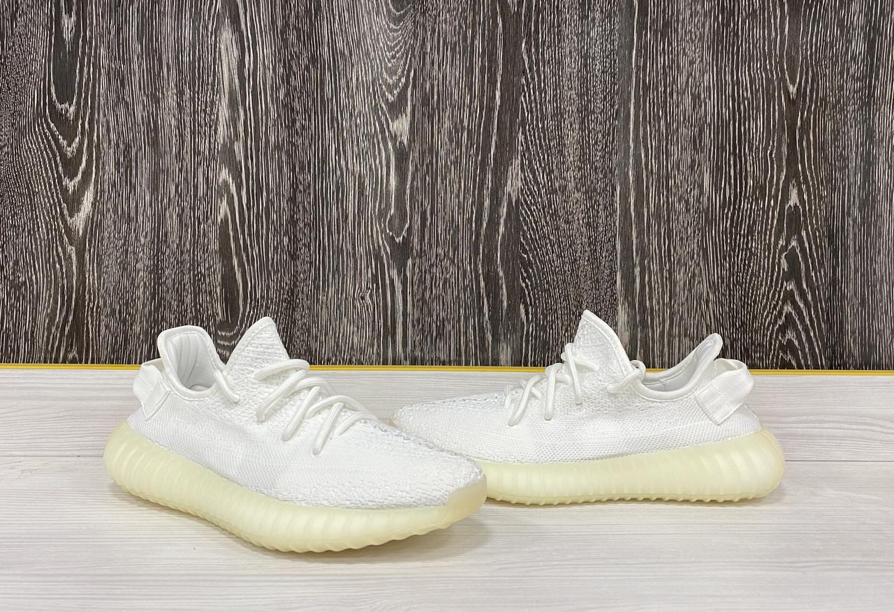 Кроссовки Adidas Yeezy Boost 350 V2 Full White - фото 1