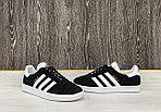 Кеды Adidas Gazelle (Black), фото 2