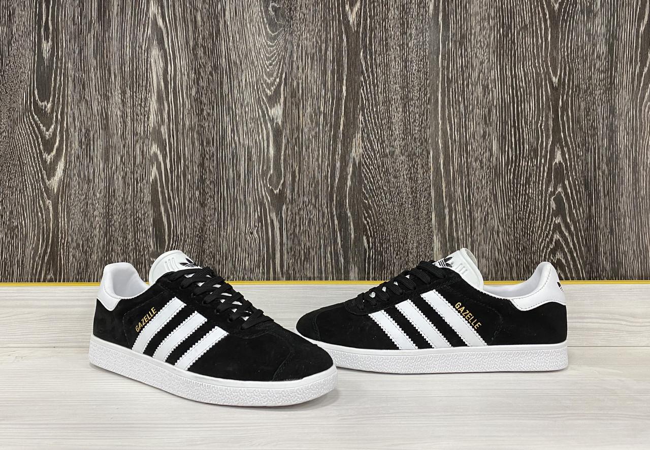 Кеды Adidas Gazelle (Black) - фото 2