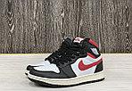 Баскетбольные кроссовки Air Jordan 1 Retro High 'Black Gym Red', фото 3