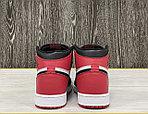 Баскетбольные кроссовки Air Jordan 1 Retro High 'Black White Red', фото 4