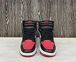 Баскетбольные кроссовки Air Jordan 1 Retro High 'Black White Red', фото 3