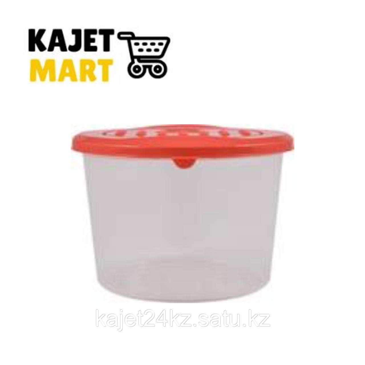 Емкость для хранения продуктов PATTERN круглая 0,8л коралловый