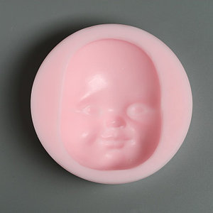 "Молд силикон №976 ""Лицо малыша"" 8 х 6 см, глубина - 2 см"