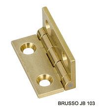 Петля карточная с ограничителем, Brusso, JB-101, 19.1*11.7 мм, латунь