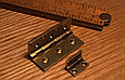 Петля карточная с ограничителем, Brusso, JB-101, 19.1*11.7 мм, латунь, фото 3