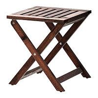 Табурет садовый складной ЭПЛАРО коричневая морилка ИКЕА, IKEA, фото 1