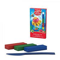 Пластилин 6 цветов, 108 г, ArtBerry, с Алоэ Вера, со стеком, индивидуальная упаковка брусков