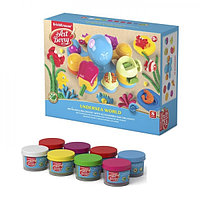 Пластилин на растительной основе 8 цветов по 35 г. с аксессуарами для лепки, ArtBerry «Подводный мир»