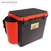 Ящик зимний Helios FishBox 19 л, односекционный, цвет оранжевый