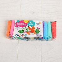Набор для детской лепки «Лёгкий пластилин 12 цветов»