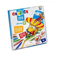 Набор для конструирования и раскрашивания Carioca Create & Color PLANNY, 10 двухсторонних фломастеров + 1 трафарет