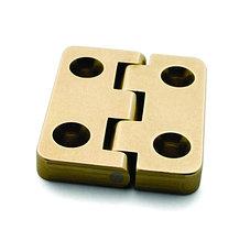 Петля карточная c ограничителем, обратная, Brusso, JB-804, 31.8*26.4 мм, латунь
