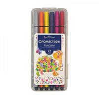 Фломастеры 12 цветов Funcolor в пластиковом пенале, микс