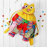 Мягкий рюкзак «Котик», лоскутный, цвета МИКС