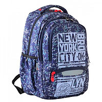 Рюкзак молодежный эргоном.спинка Yes T-54 43*31*14 New York, синий 554916