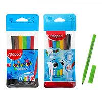 Фломастеры 6 цветов Color'Peps Ocean, блокированый пишущий узел, супер смываемые, МИКС