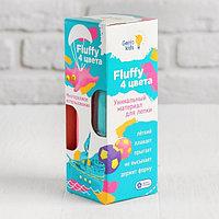 Воздушный пластилин для детской лепки «Fluffy 4 цвета»