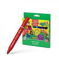 Фломастеры утолщённые 10 цветов Artberry, ароматизированные, узел с шириной письма 1-7 мм, европодвес